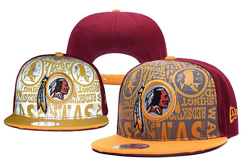 Redskins Team Logo Red Yellow Adjustable Hat YD