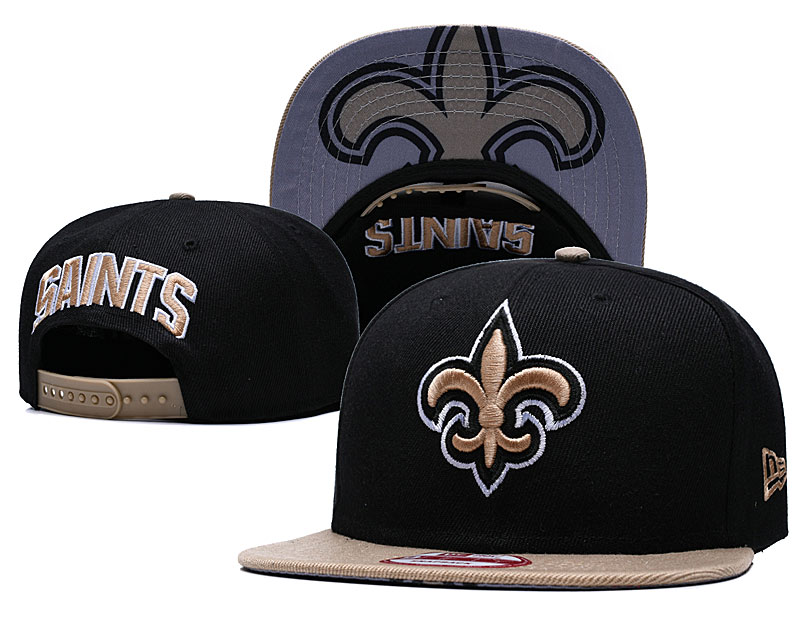 Saints Fresh Logo Black Adjustable Hat GS