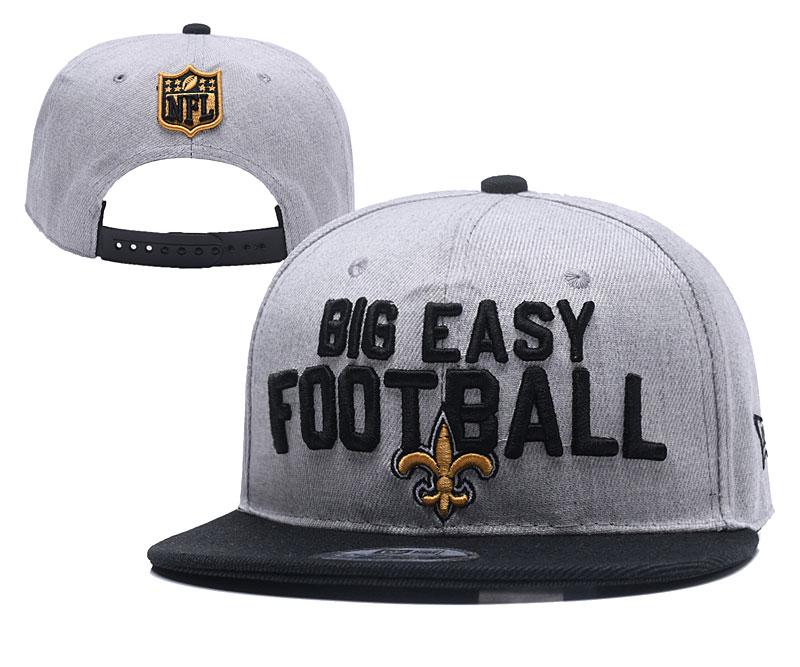 Saints Fresh Logo Gray Adjustable Hat YD