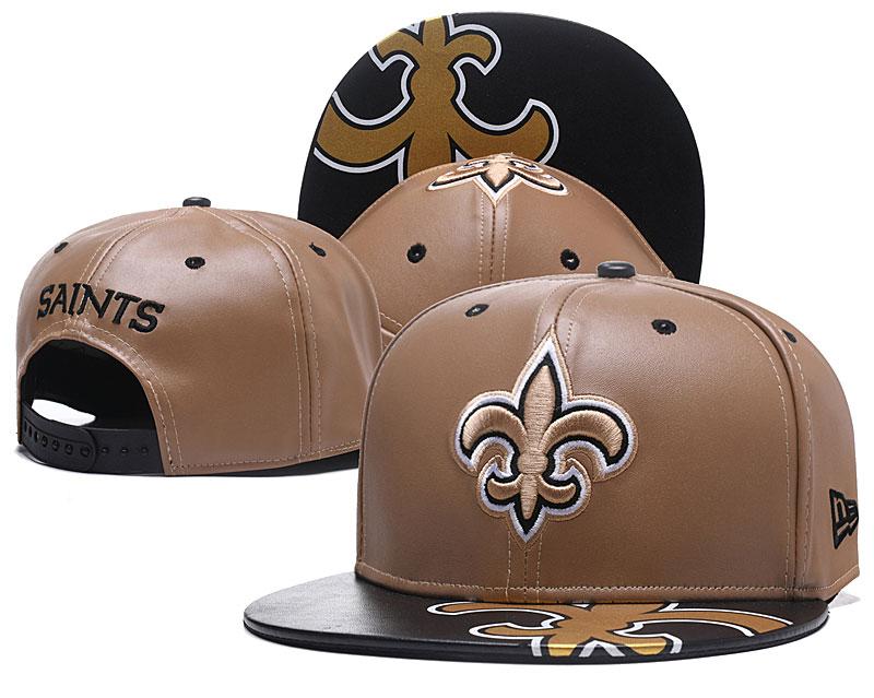 Saints Fresh Logo Leather Adjustable Hat GS