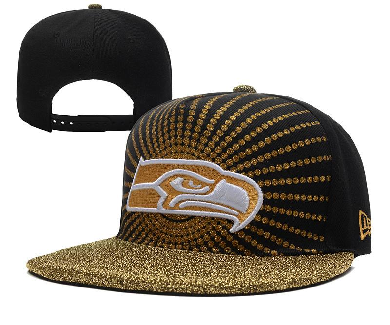 Seahawks Fresh Logo Black Adjustable Hat YD