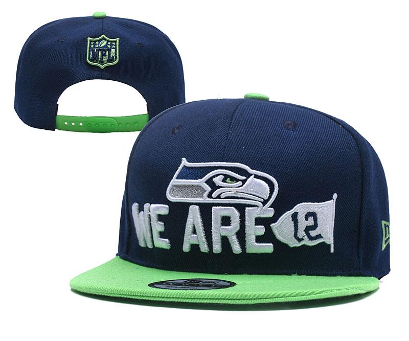 Seahawks Team Big Logo Navy Adjustable Hat YD