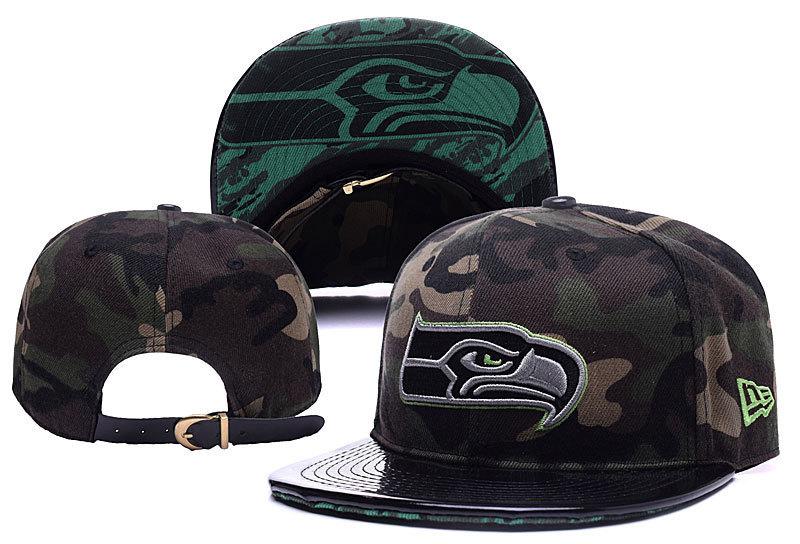 Seahawks Team Logo Camo Adjustable Hat YD