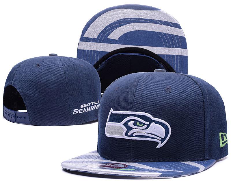 Seahawks Team Logo Navy Adjustable Hat YD