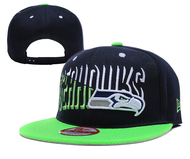 Seahawks Team Logo Navy Green Adjustable Hat YD