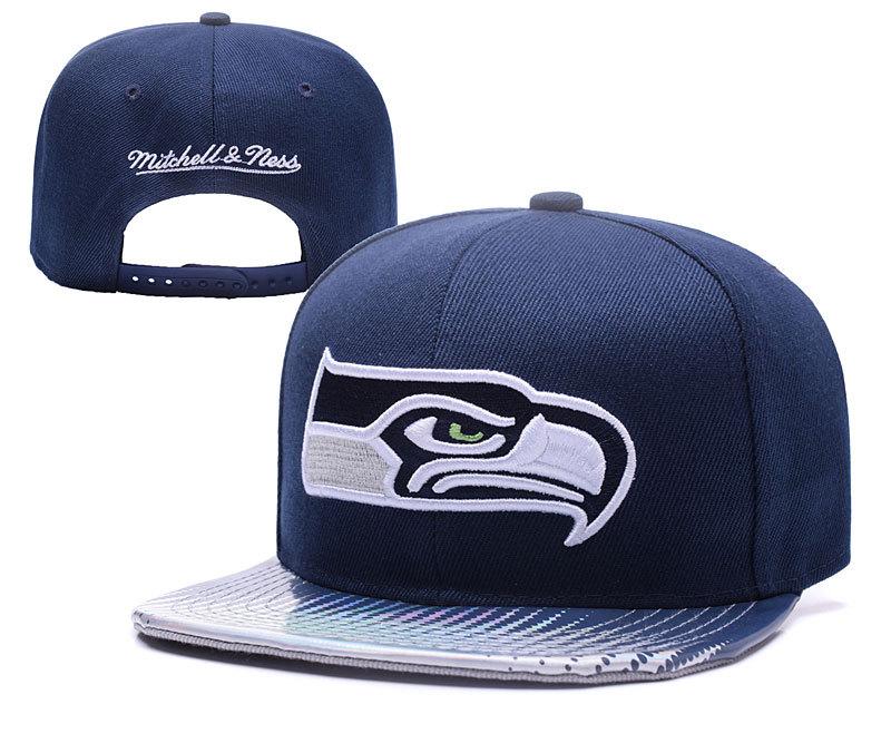 Seahawks Team Logo Navy Mitchell & Ness Adjustable Hat YD