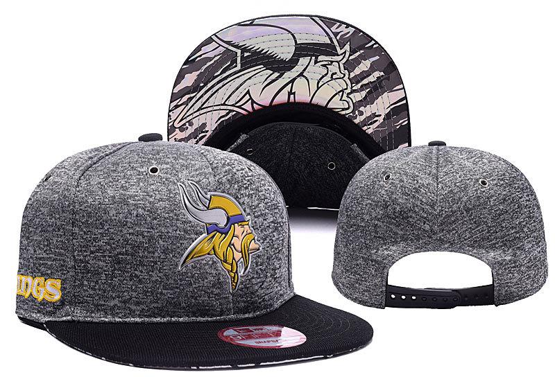 Vikings Team Big Logo Gray Adjustable Hat YD