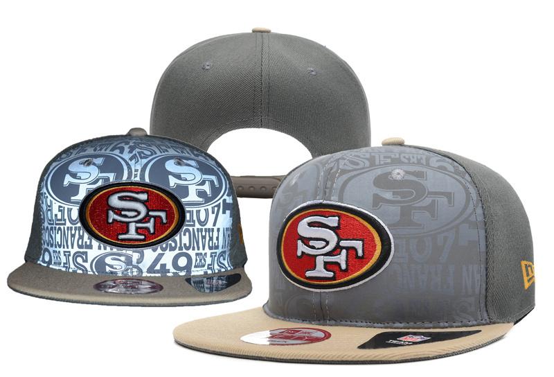 49ers Fresh Logo Sliver Gray Adjustable Hat YD