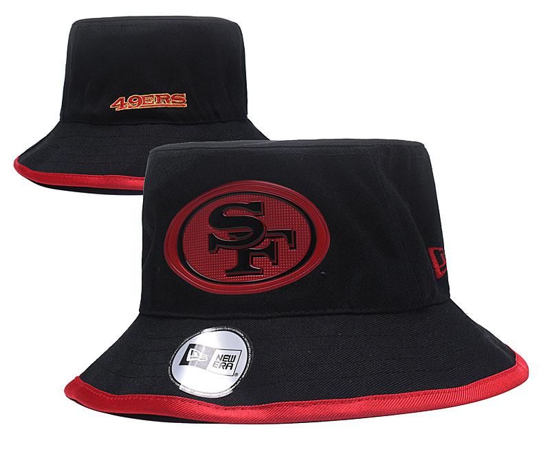 49ers Team Black Wide Brim Hat YD