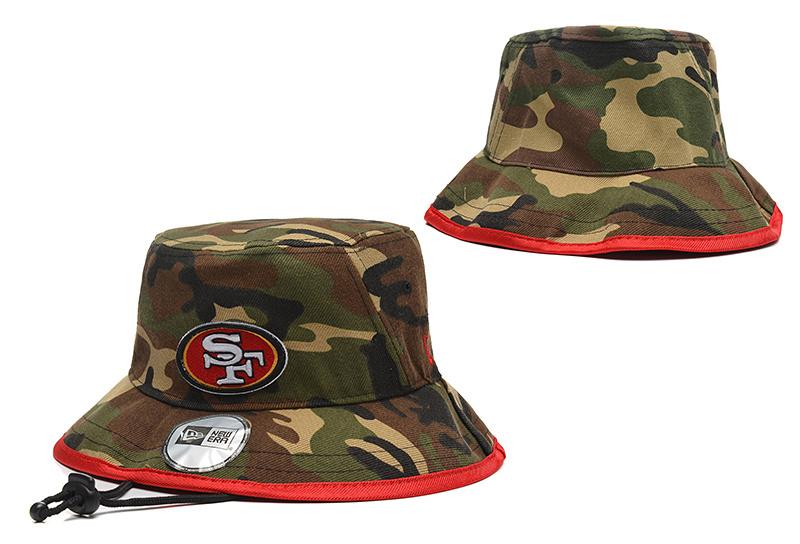 49ers Team Camo Wide Brim Hat YD