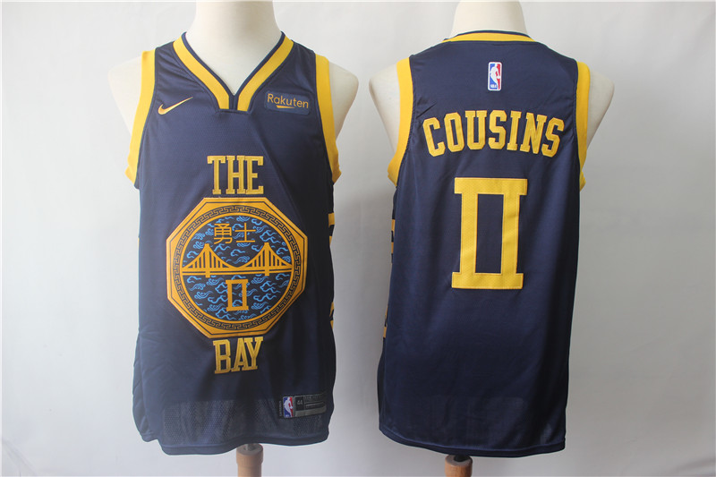 Warriors 0 DeMarcus Cousins Navy 2019 City Edition Nike Swingman Jersey