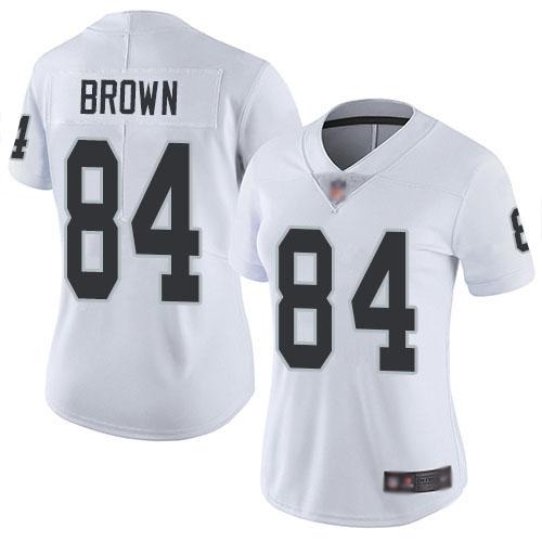 Raiders 84 Antonio Brown White Women Vapor Untouchable Limited Jersey