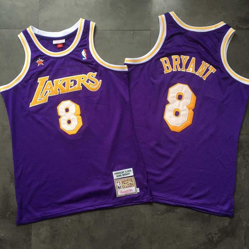 Lakers 8 Kobe Bryant Purple 1998 Hardwood Classics Jersey