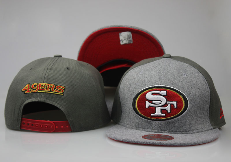 49ers Fresh Logo Gray Olive Adjustable Hat LT