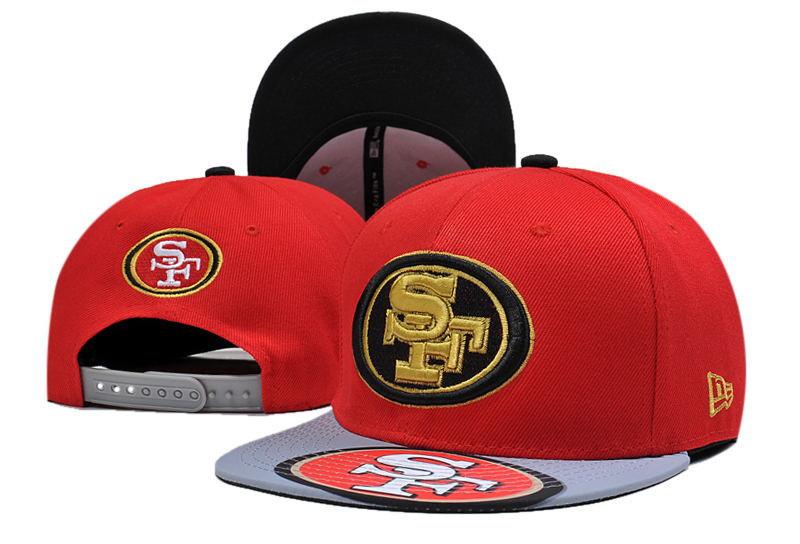 49ers Fresh Logo Red Adjustable Hat LT