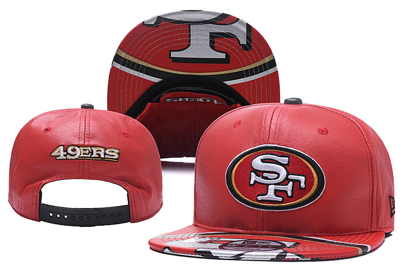 49ers Fresh Logo Red Adjustable Hat YD