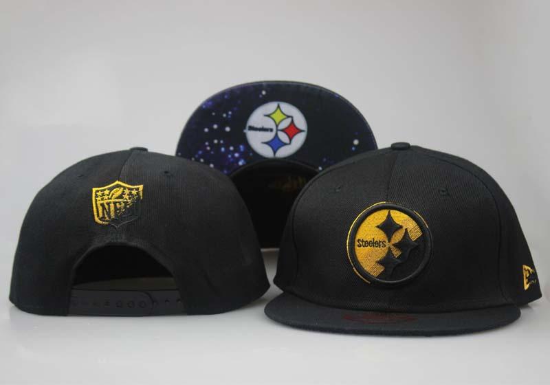 Steelers Fresh Black Starry Sky Adjustable Hat LT