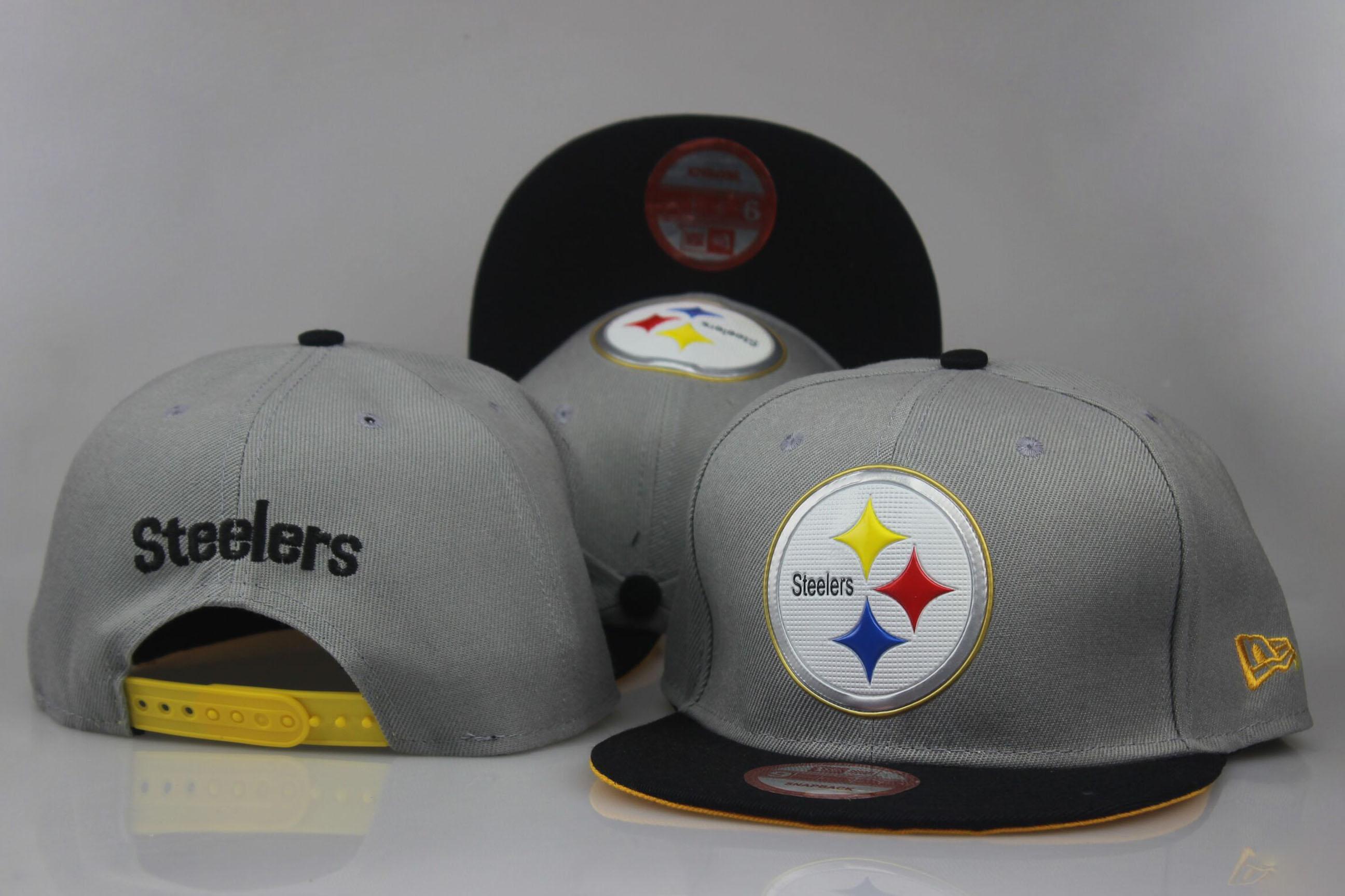Steelers Fresh Logo Gray Adjustable Hat LT