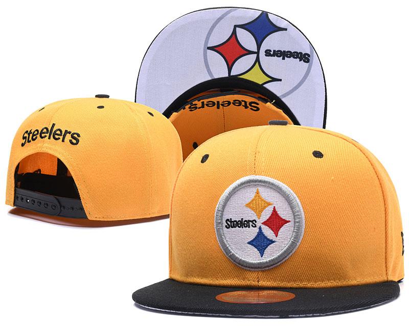 Steelers Fresh Logo Yellow White Adjustable Hat LT