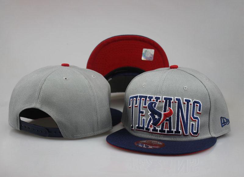 Texans Team Logo Gray Red Adjustable Hat LT