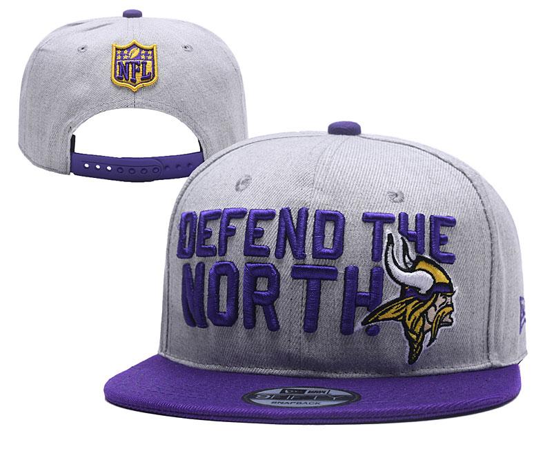 Vinkings Fresh Logo Gray Purple Adjustable Hat YD