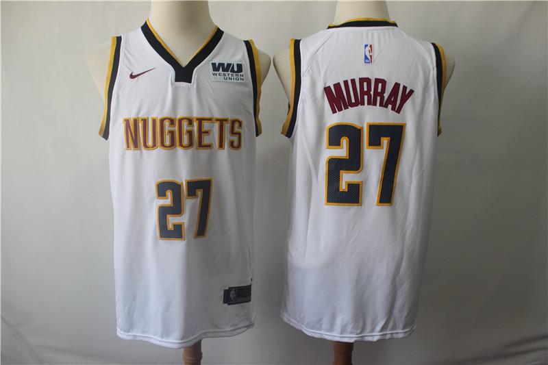 Nuggets 27 Jamal Murray White Nike Swingman Jersey