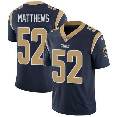 Nike Rams 52 Clay Matthews Navy Vapor Untouchable Limited Jersey