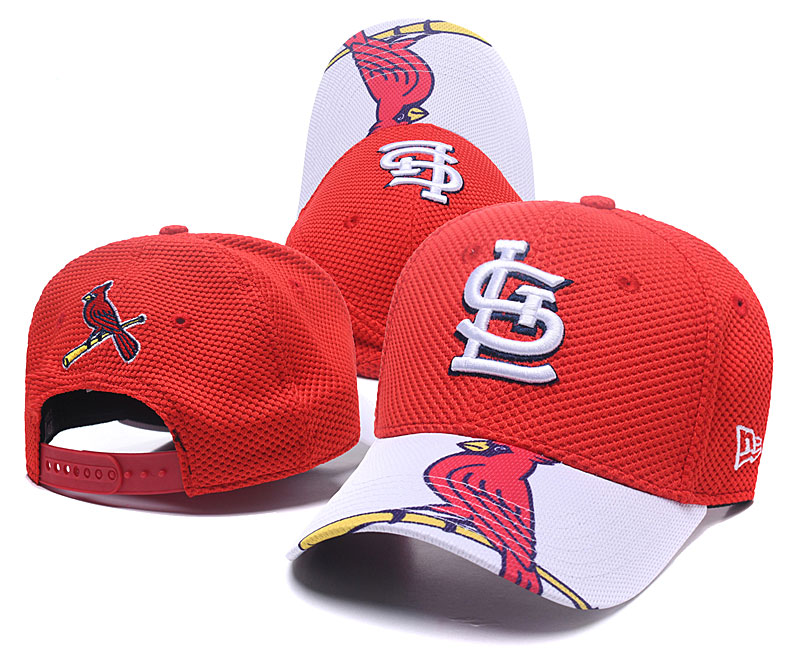 St. Louis Cardinals Fresh Logo Red Peaked Adjustable Hat TX