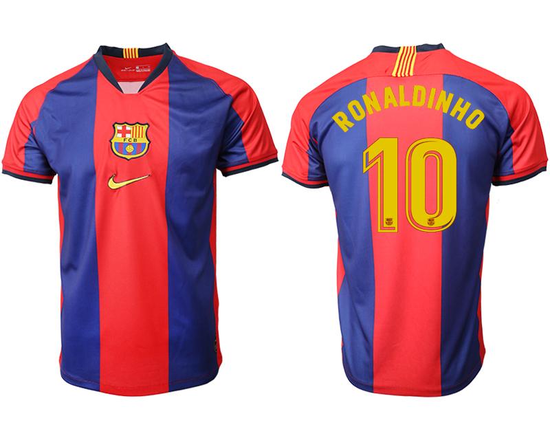 2019-20 Barcelona 10 RONALDINHO Home Thailand Soccer Jersey
