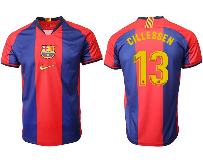 2019-20 Barcelona 13 CILLESSEN Home Thailand Soccer Jersey