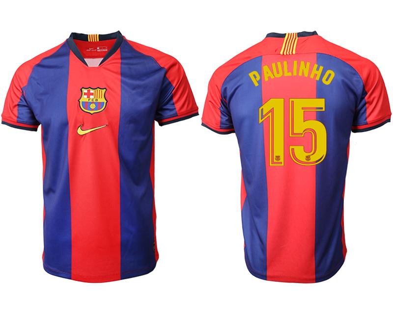 2019-20 Barcelona 15 P AULINHO Home Thailand Soccer Jersey