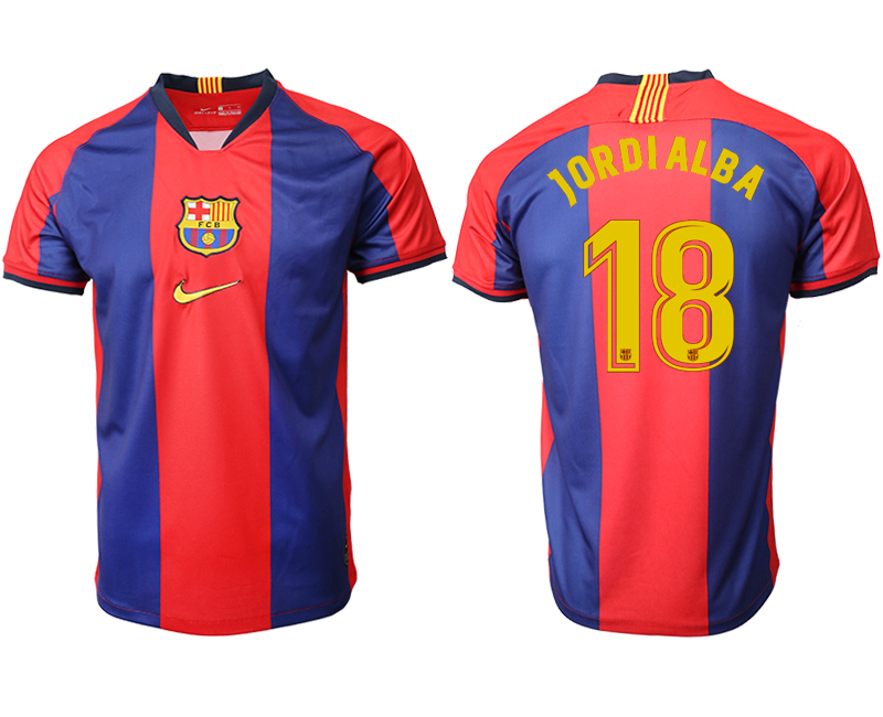 2019-20 Barcelona 18 JORDIALBA Home Thailand Soccer Jersey