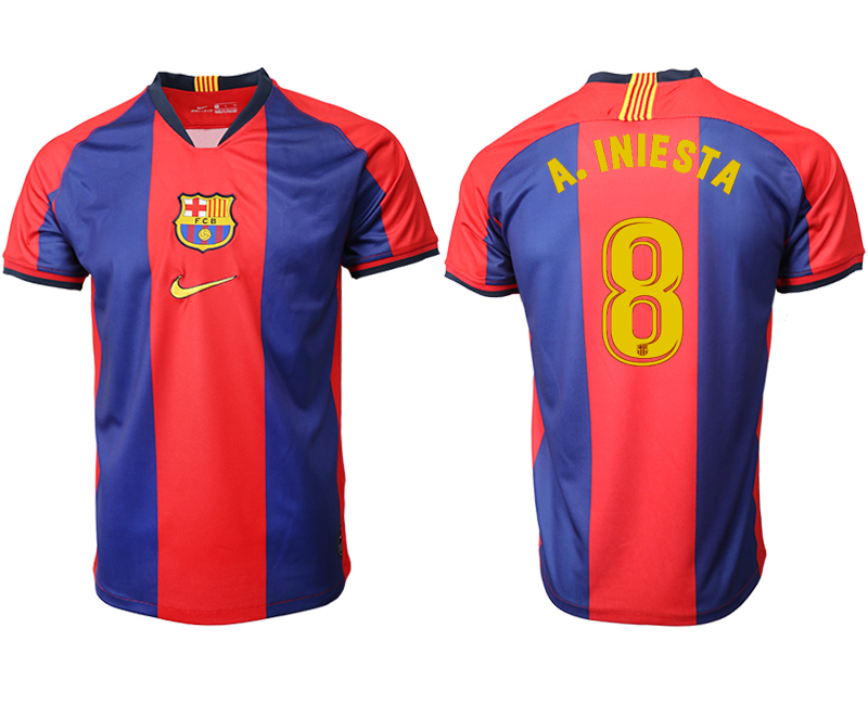 2019-20 Barcelona 8 A. INIESTA Home Thailand Soccer Jersey
