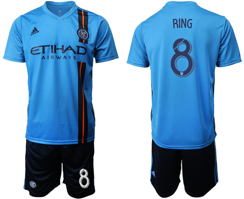 2019-20 New York City FC 8 RING Home Soccer Jersey