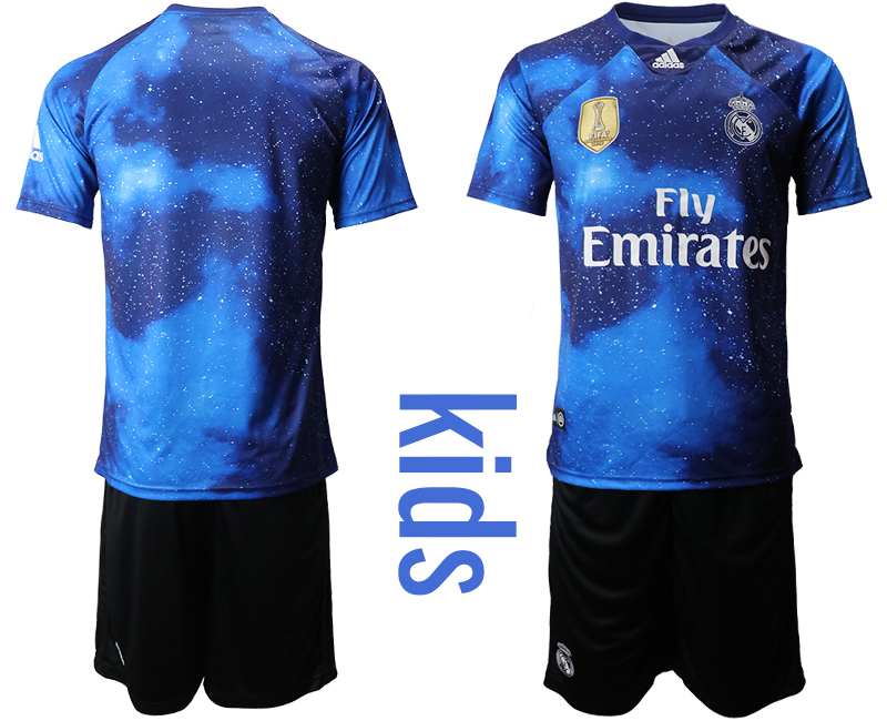 2019-20 Real Madrid Away Youth Soccer Jersey