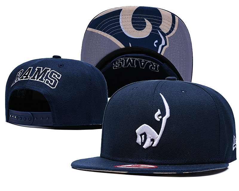 Rams Team Logo Navy Adjustable Hat GS