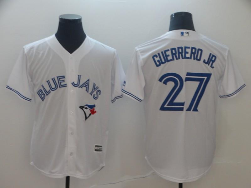 Blue Jays 27 Vladimir Guerrero Jr. White Cool Base Jersey
