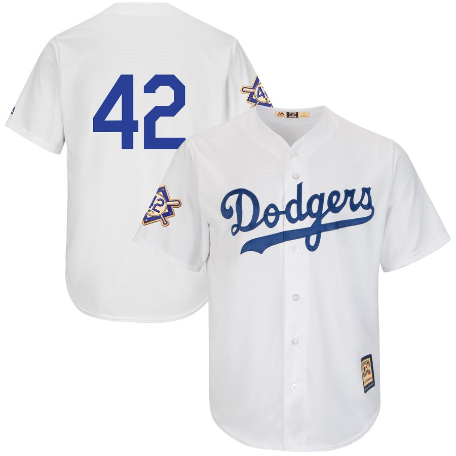 Dodgers 42 Jackie Robinson White 2019 Jackie Robinson Day Cooperstown FlexBase Jersey