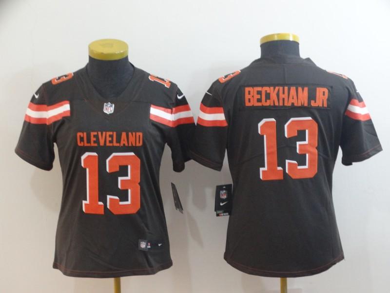 Nike Browns 13 Odell Beckham Jr Brown Women Vapor Untouchable Limited Jersey
