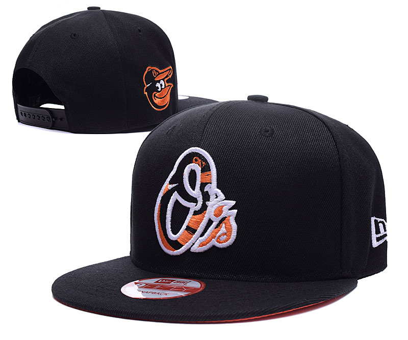 Orioles Team Logo Blue Peaked Adjustable Hat LH
