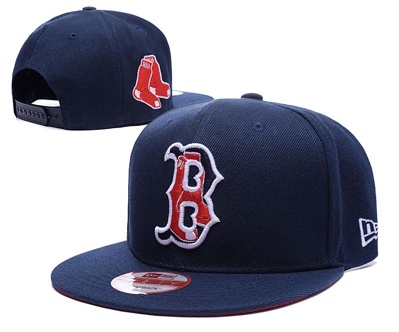 Red Sox Team Logo Navy Peaked Adjustable Hat LH