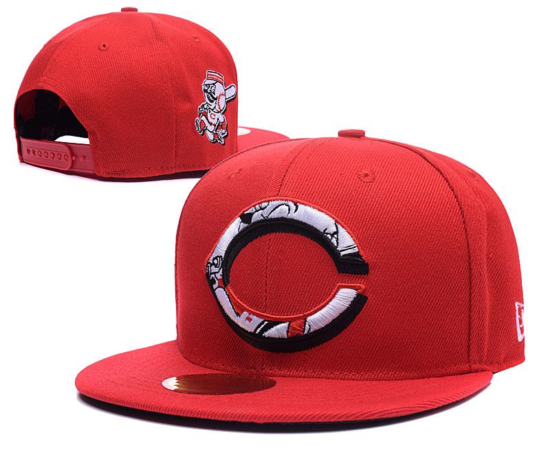 Reds Team Logo Red Peaked Adjustable Hat