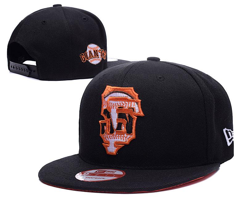 San Francisco Giants Team Logo Black Peaked Adjustable Hat LH