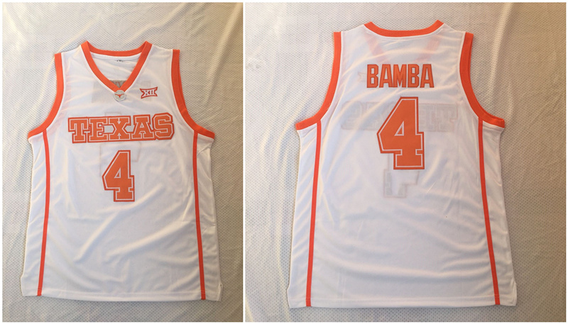 Texas Longhorns 4 Mohamed Bamba White Stitched College Basketball Jersey