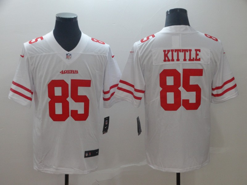Nike 49ers 85 George Kittle White Vapor Untouchable Limited Jersey