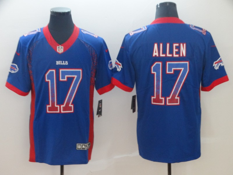 Nike Bills 17 Josh Allen Royal Drift Fashion Limited Jersey