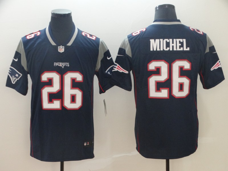 Nike Patriots 26 Sony Michel Navy Vapor Untouchable Limited Jersey