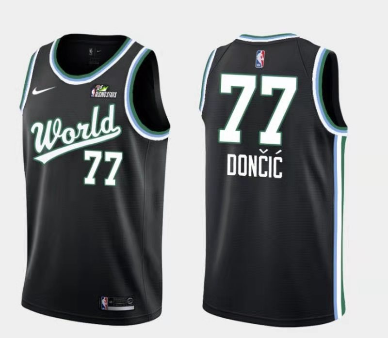 Mavericks 77 Luka Doncic Black 2019 NBA All-Star Game Jordan Brand Swingman Jersey