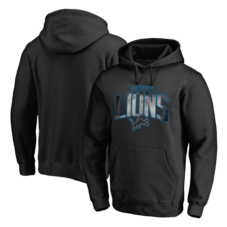 Detroit Lions NFL Pro Line by Fanatics Branded Arch Smoke Pullover Hoodie Black