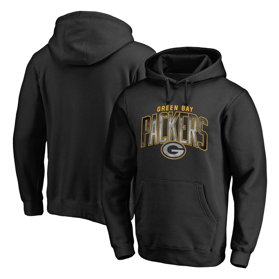 Green Bay Packers NFL Pro Line by Fanatics Branded Arch Smoke Pullover Hoodie Black